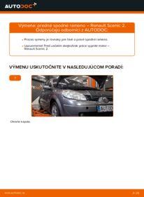 Ako vykonať výmenu: Rameno Zavesenia Kolies na 1.9 dCi Renault Scenic 2