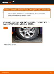 Kaip atlikti keitimą: 1.4 HDi Peugeot 208 1 Vikšro Valdymo Svirtis