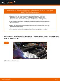 Wie der Austausch bewerkstelligt wird: Bremsscheiben beim PEUGEOT 208