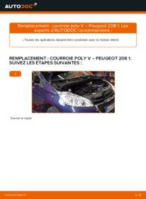 Comment effectuer un remplacement de Courroie Trapézoïdale à Nervures sur 1.4 HDi Peugeot 208 1