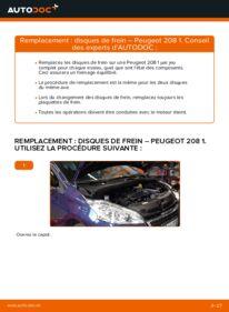 Comment effectuer un remplacement de Disques De Frein sur 1.4 HDi Peugeot 208 CC