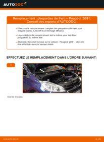 Comment effectuer un remplacement de Plaquettes de Frein sur 1.4 HDi Peugeot 208 1