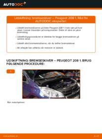 Hvordan man udfører udskiftning af: Bremseskiver på 1.4 HDi Peugeot 208 1