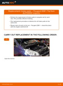How to carry out replacement: Brake Pads on 1.4 HDi Peugeot 208 1