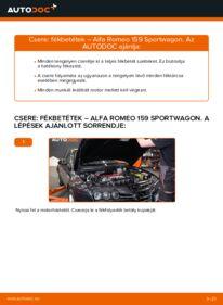 Hogyan végezze a cserét: ALFA ROMEO 159 Fékbetét