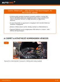 Hogyan végezze a cserét: ALFA ROMEO 159 Féktárcsa
