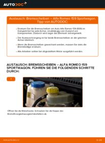 Wie der Ersatz vollführt wird: Bremsscheiben am ALFA ROMEO 159