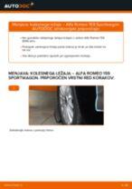 Kdaj zamenjati Kolesni lezaj ALFA ROMEO 159 Sportwagon (939): pdf navodila