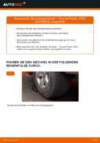 Kraftstofffilter auswechseln TOYOTA LAND CRUISER: Werkstatthandbuch