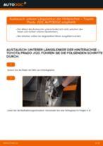 Wie Motorhalter TOYOTA LAND CRUISER auswechseln und einstellen: PDF-Anleitung