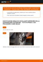 Come cambiare braccio oscillante inferiore della sospensione posteriore su Toyota Prado J120 - Guida alla sostituzione
