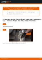 Gratis instruksjoner på nett for bytte Bærebro TOYOTA LAND CRUISER (KDJ12_, GRJ12_)