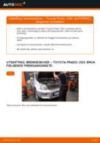 Skifte Bremseskiver TOYOTA LAND CRUISER: gratis pdf
