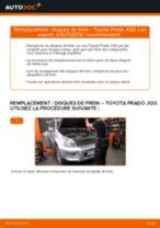 Comment changer : disques de frein avant sur Toyota Prado J120 - Guide de remplacement