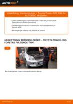Skifte Bremseklodser TOYOTA LAND CRUISER: værkstedshåndbog