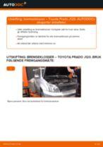 Bytte Bremsebelegg bak og foran TOYOTA gjør-det-selv - manualer pdf på nett