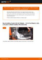 Schimbare Placute Frana TOYOTA LAND CRUISER: pdf gratuit