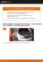 Comment changer : plaquettes de frein arrière sur Toyota Prado J120 - Guide de remplacement