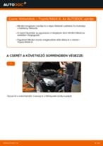 Online kézikönyv – saját kezű TOYOTA RAV 4 III (ACA3_, ACE_, ALA3_, GSA3_, ZSA3_) Kerékcsapágy készlet csere