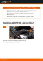 Wie Axialgelenk Spurstange TOYOTA RAV4 auswechseln und einstellen: PDF-Anleitung