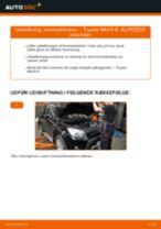 Udskiftning af Bremseklods bag og foran TOYOTA gør det selv - online manualer pdf