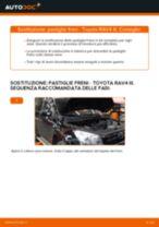 Come cambiare pastiglie freno della parte anteriore su Toyota RAV4 III - Guida alla sostituzione