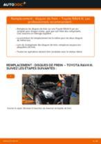 Comment changer : disques de frein arrière sur Toyota RAV4 III - Guide de remplacement