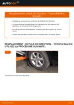 Comment changer : rotule de rirection sur Toyota RAV4 III - Guide de remplacement