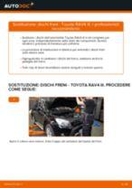 Come cambiare dischi freno della parte posteriore su Toyota RAV4 III - Guida alla sostituzione