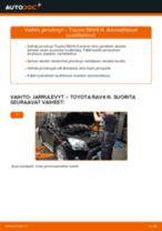 Automekaanikon suositukset TOYOTA Toyota Rav4 II 2.0 4WD (ACA21, ACA20) -auton Jarrupalat-osien vaihdosta