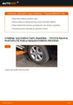 Ako vymeniť a regulovať Čap riadenia TOYOTA RAV4: sprievodca pdf