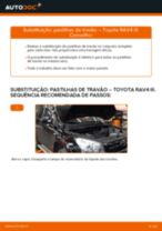 Mudar Cabo Do Freio De Mão TOYOTA RAV 4 III (ACA3_, ACE_, ALA3_, GSA3_, ZSA3_): guia pdf