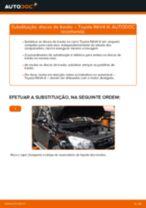 Como mudar discos de travão da parte dianteira em Toyota RAV4 III - guia de substituição