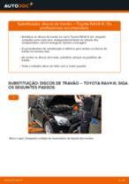 Como mudar discos de travão da parte traseira em Toyota RAV4 III - guia de substituição