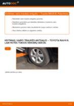 Kaip pakeisti Toyota RAV4 III vairo traukės antgalio - keitimo instrukcija