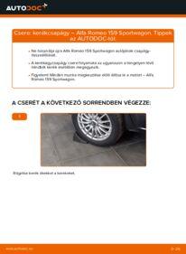 Hogyan végezze a cserét: ALFA ROMEO 159 Kerékcsapágy