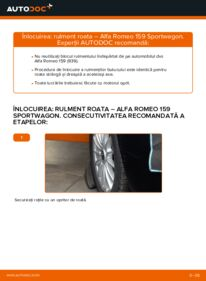 Cum să efectuați înlocuirea: Rulment roata la 1.9 JTDM 16V Alfa Romeo 159 Sportwagon