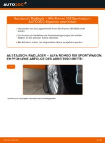 Wie der Wechsel durchführt wird: Radlager Alfa Romeo 159 Sportwagon 1.9 JTDM 16V 2.4 JTDM 2.0 JTDM tauschen