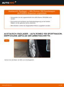 Wie der Ersatz vollführt wird: Radlager am ALFA ROMEO 159