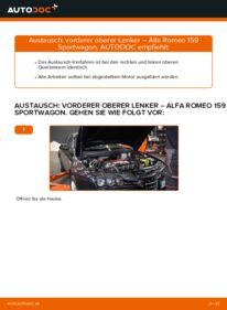 Wie der Wechsel durchführt wird: Querlenker 1.9 JTDM 16V Alfa Romeo 159 Sportwagon tauschen