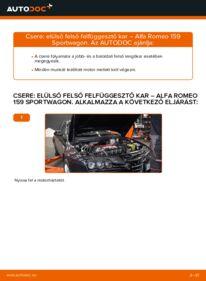 Hogyan végezze a cserét: ALFA ROMEO 159 Lengőkar