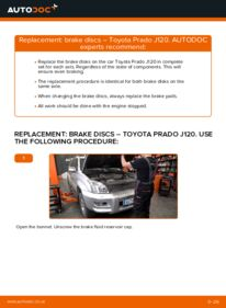 How to carry out replacement: Brake Discs on 3.0 D-4D Toyota Prado J120
