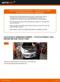 Wie der Wechsel durchführt wird: Bremsscheiben Toyota Prado J120 3.0 D-4D 4.0 3.0 D tauschen