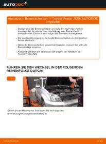 Wie der Wechsel durchführt wird: Bremsscheiben 3.0 D-4D Toyota Prado J120 tauschen