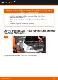 Så byter du Bromsbelägg på 3.0 D-4D Toyota Prado J120