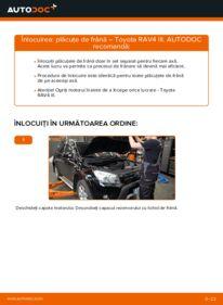Cum să efectuați înlocuirea: Placute Frana la 2.2 D 4WD (ALA30_) Toyota RAV4 III