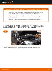 Come effettuare una sostituzione di Pastiglie Freno su 2.2 D 4WD (ALA30_) Toyota RAV4 III