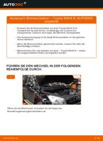 Wie der Wechsel durchführt wird: Bremsscheiben 2.2 D 4WD (ALA30_) Toyota RAV4 III tauschen