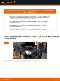 Come effettuare una sostituzione di Dischi Freno su 2.2 D 4WD (ALA30_) Toyota RAV4 III