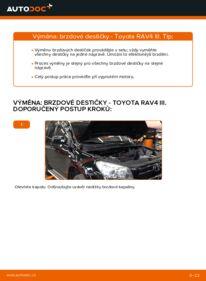 Jak provést výměnu: Brzdové Destičky na 2.2 D 4WD (ALA30_) Toyota RAV4 III